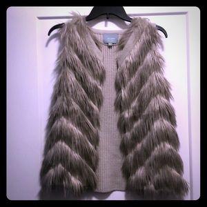 Grey Vest with Fur